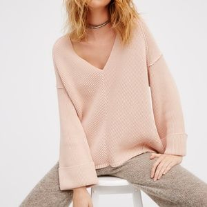 Free People La Brea V-Neck Sweater $50 OBO